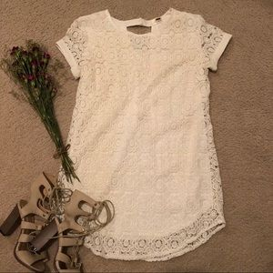 f593f4a13aa Women s White Lf Crochet Dress on Poshmark